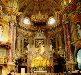 Il presbiterio del Santuario di Sommariva del Bosco
